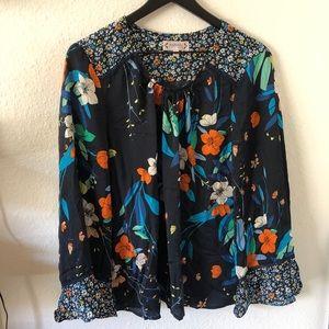 Nanette Lepore floral blouse